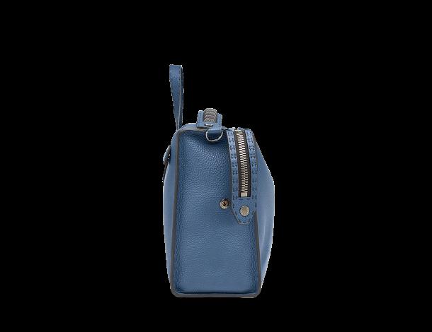 芬迪 Fendi LUI男士手袋 长方形深蓝色小牛皮手提包