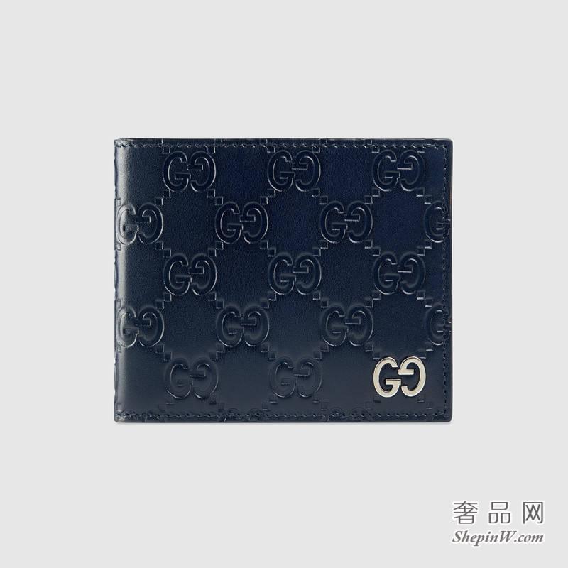 Gucci Signature真皮钱包 双折皮夹473916 CWC1N 4009