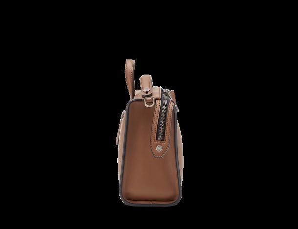 芬迪Fendi MINI LUI光滑摩卡棕色男士手袋7M0238_O7B_F07T9