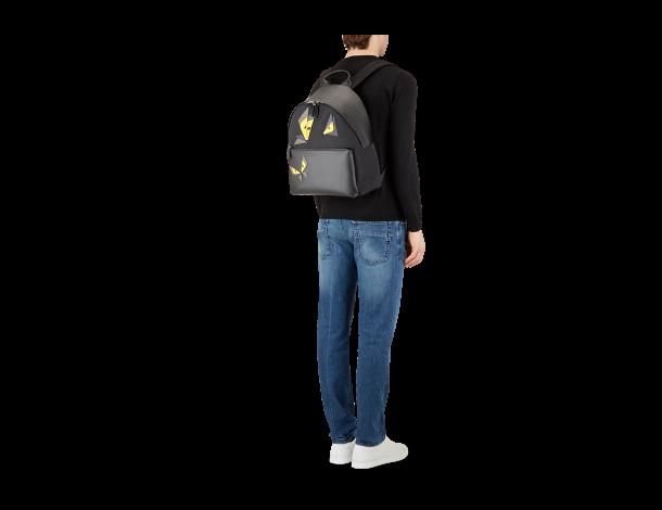芬迪Fendi 黑色尼龙和皮革 双肩背包 7VZ012_6GZ_F0JBX