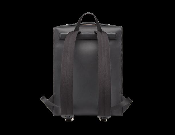 芬迪Fendi 长方形光滑黑色皮革男士双肩背包抽象脸部造型造型