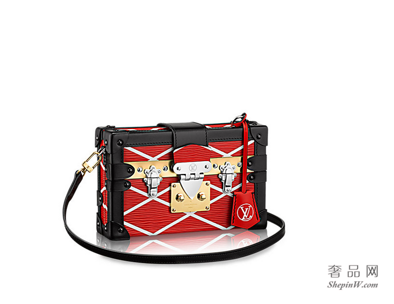 路易威登LOUIS VUITTON  Petite Malle Malletage 手袋 M50019 红色