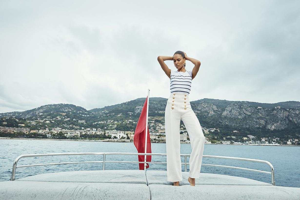 NET-A-PORTER和Balmain推出夏季联名系列 融合法式假日和游艇元素