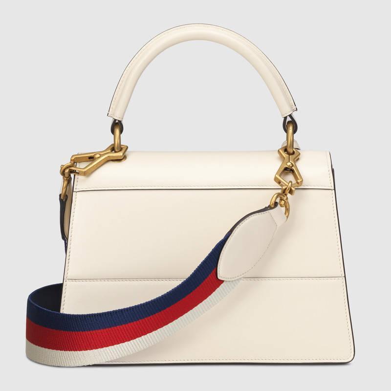Gucci古驰白色皮革Queen Margaret小号手提包476541 DVUXT 9193