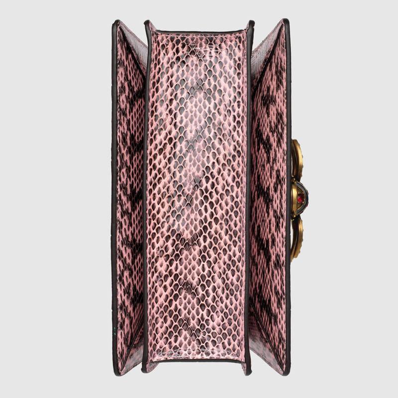 Gucci古驰 粉色蛇皮Queen Margaret蛇皮手提包476541 LOOMT 8008