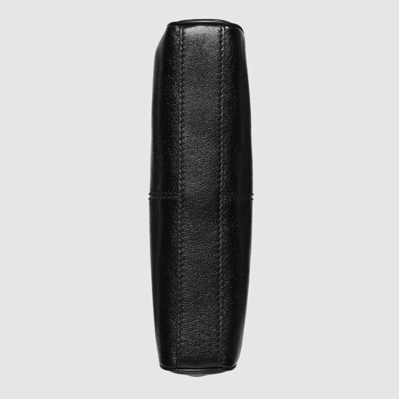 Gucci古驰 RE(BELLE)系列小号肩背包 黑色皮革524620 0PL0T 1000