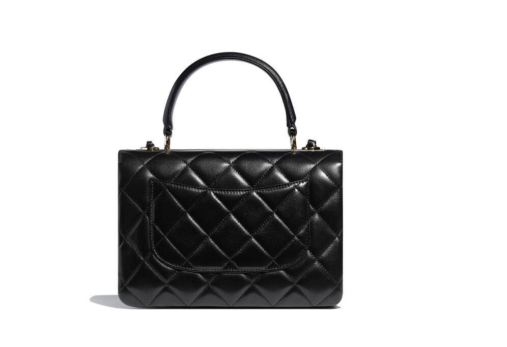 香奈儿2.55尺寸_香奈儿Chanel 小号口盖包配以手柄 黑色羊皮革-奢品网腕表之家