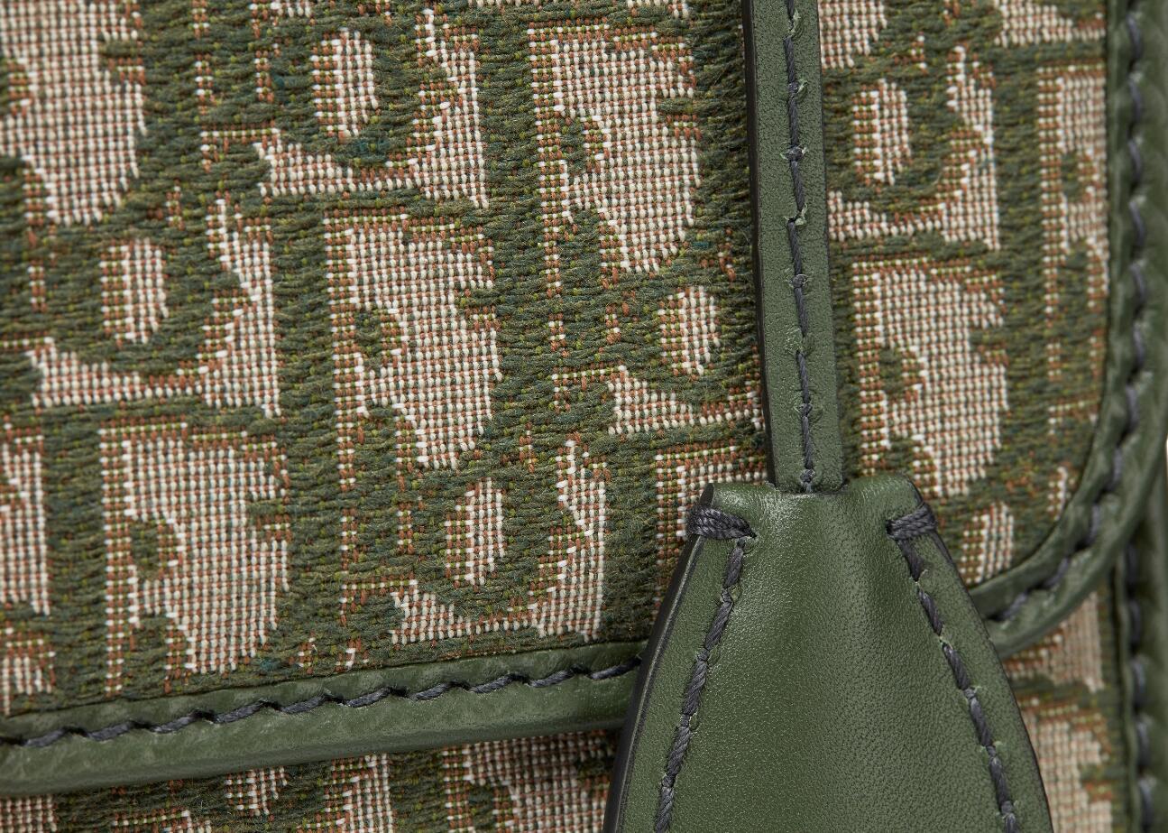 迪奥 Dior Dioraddict绿色Dior Oblique提花帆布手提包 小母牛皮