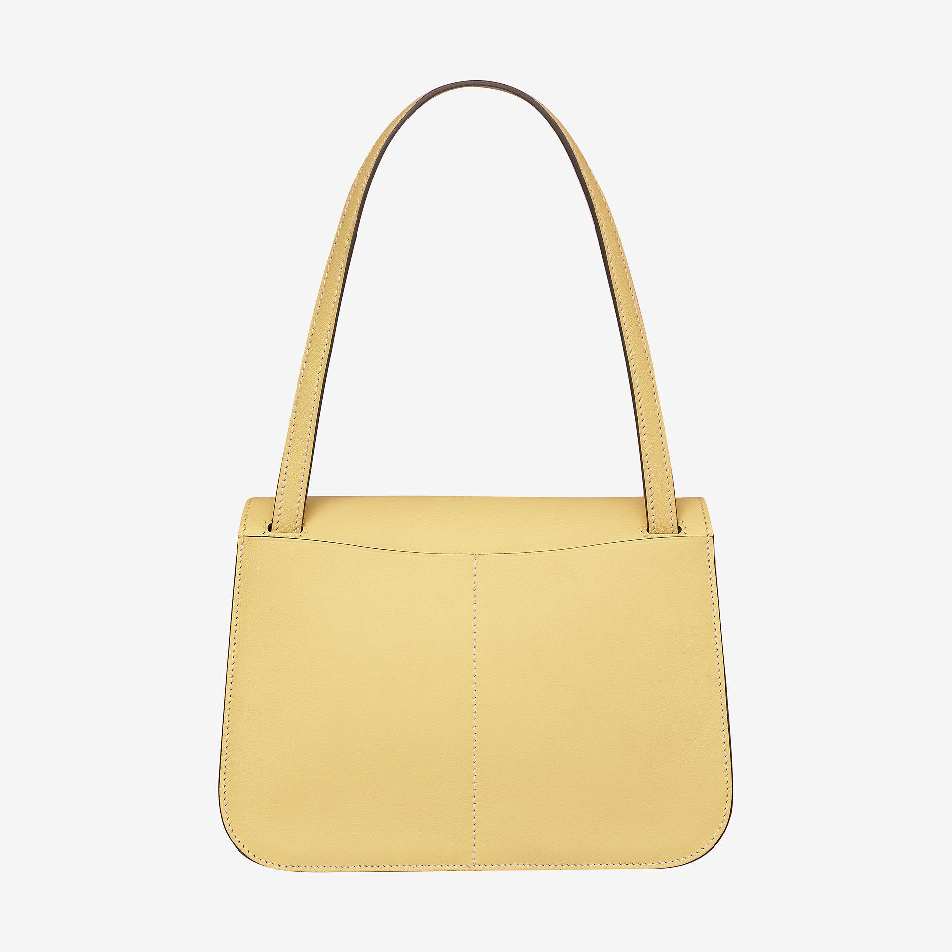 Hermes Halzan mini bag jaune poussin Swift calfskin 小牛皮手提包