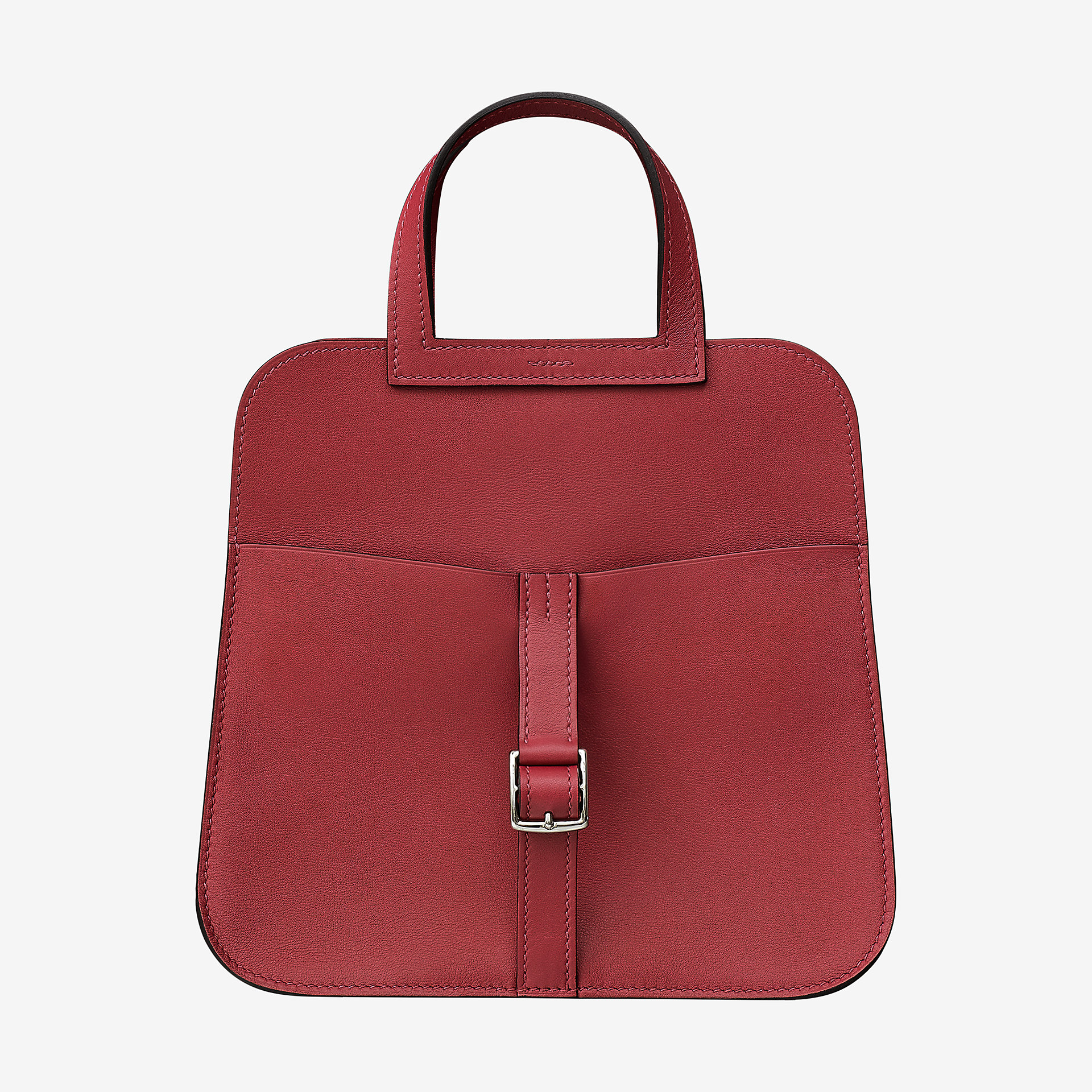 Hermes mini Halzan bag Rouge grenat Swift 小牛皮手提包