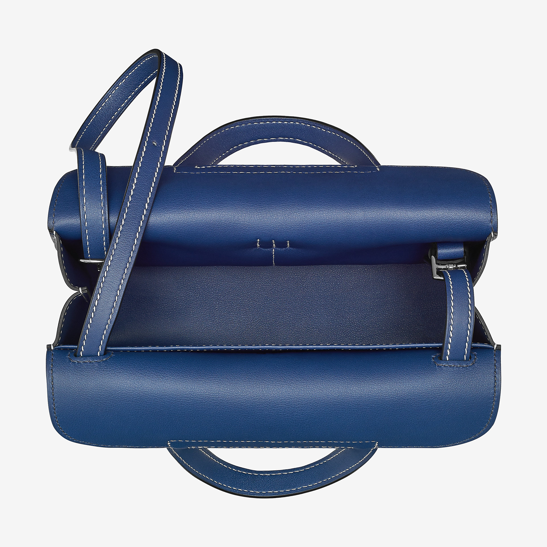 爱马仕Hermes Halzan mini bag迷你手提bleu saphir Swift calfskin 小牛皮