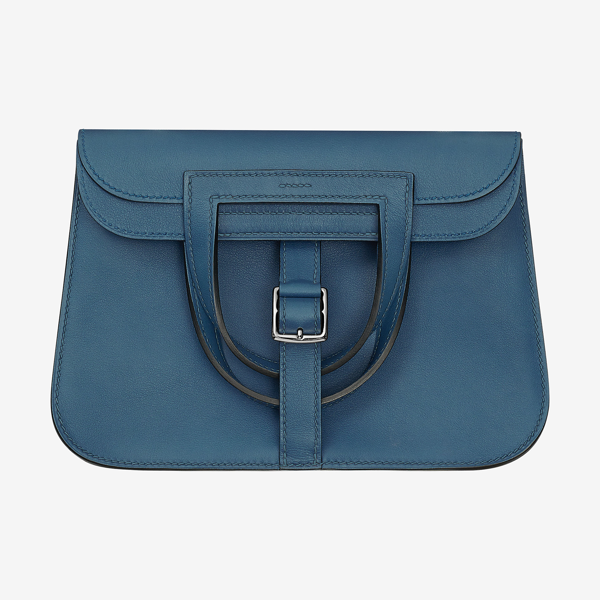 爱马仕Hermes Halzan mini bag迷你手袋 bleu agate Swift calfskin 小牛皮