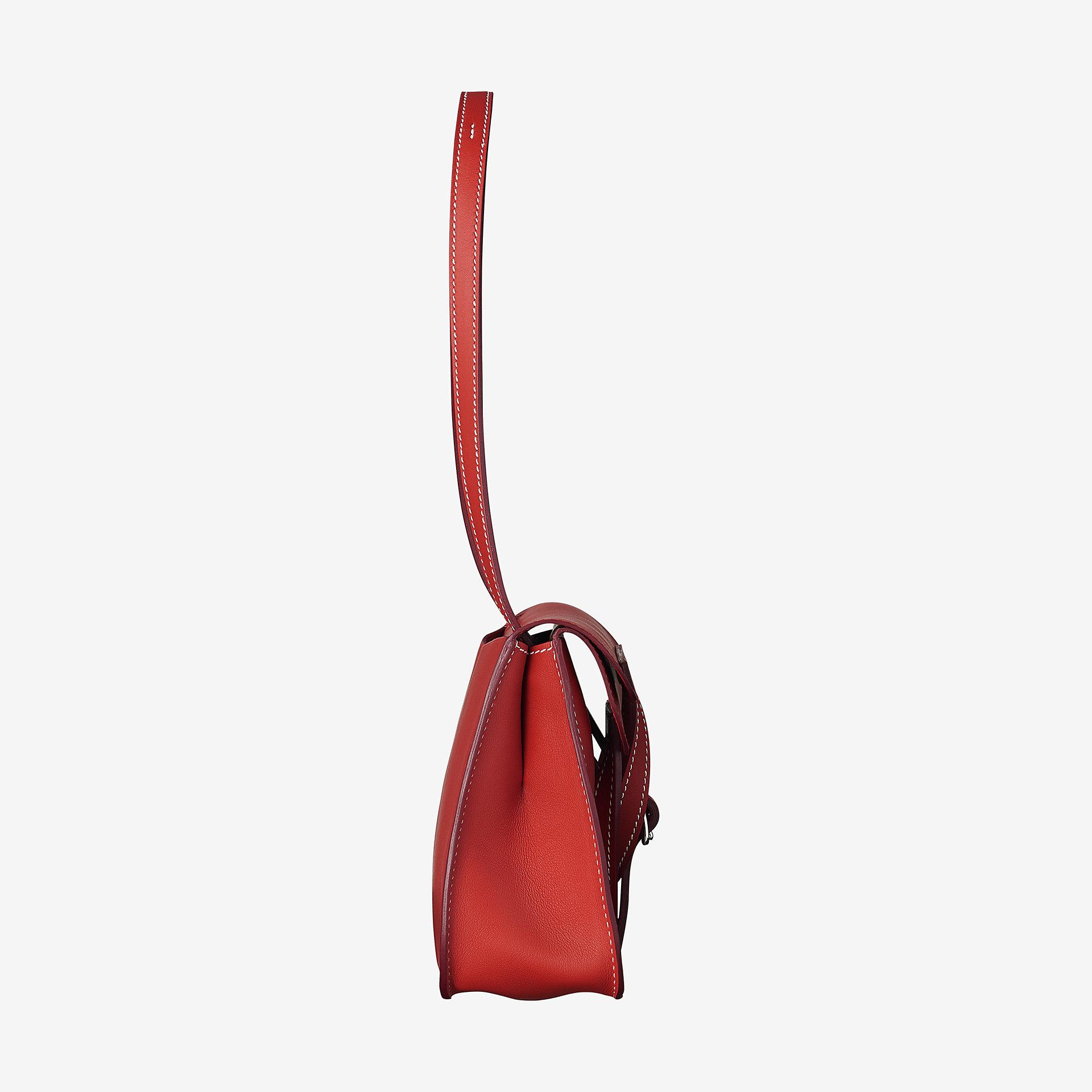 爱马仕Hermes Halzan mini bag rouge tomate Swift calfskin 小牛皮手提包