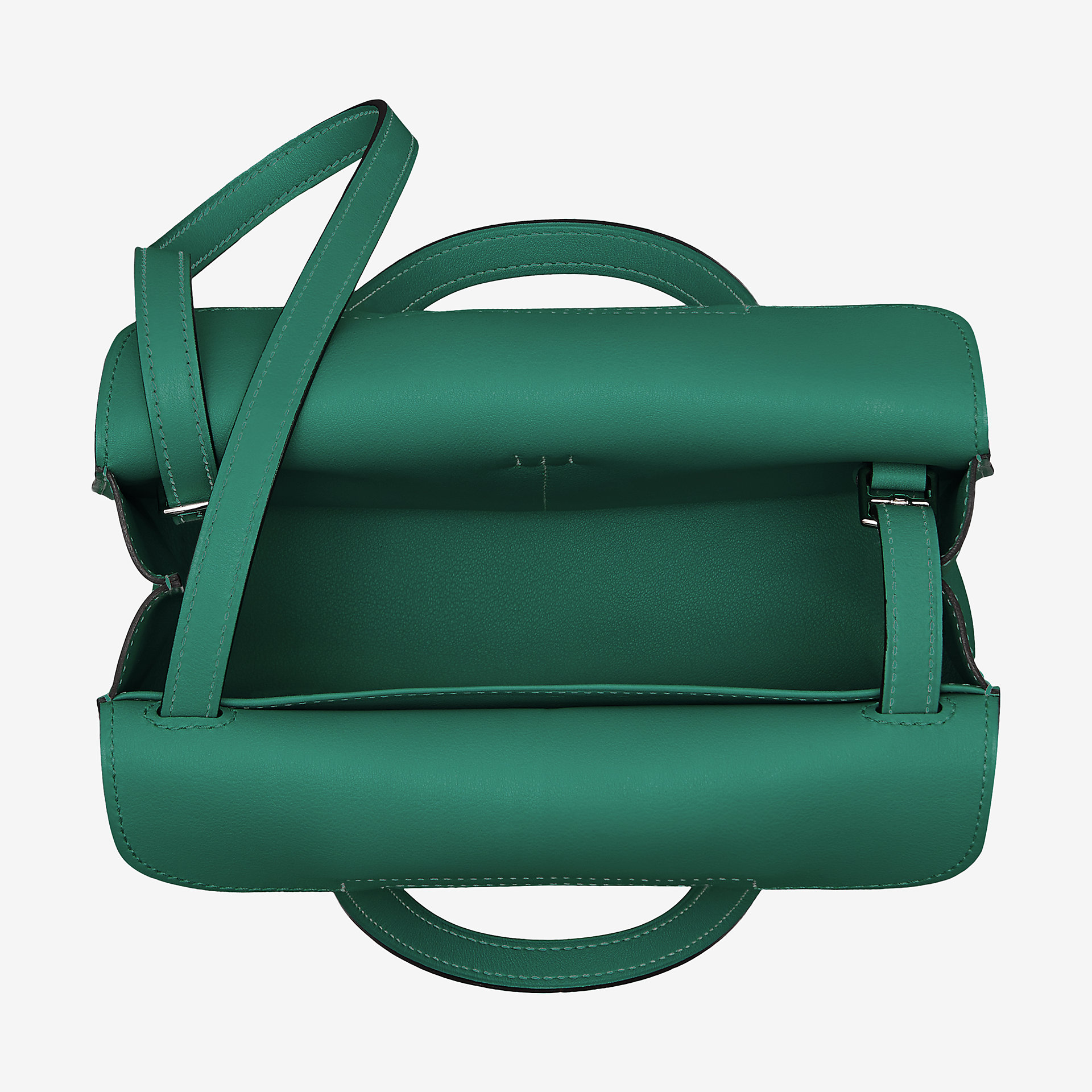 爱马仕Hermes Halzan mini bag malachite 孔雀绿Swift calfskin 小牛皮手提包