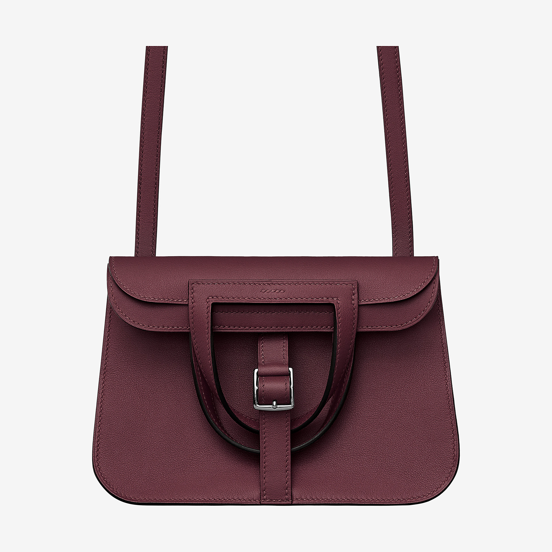 爱马仕Hermes Halzan mini bag 波尔多酒红Swift calfskin 小牛皮手提包