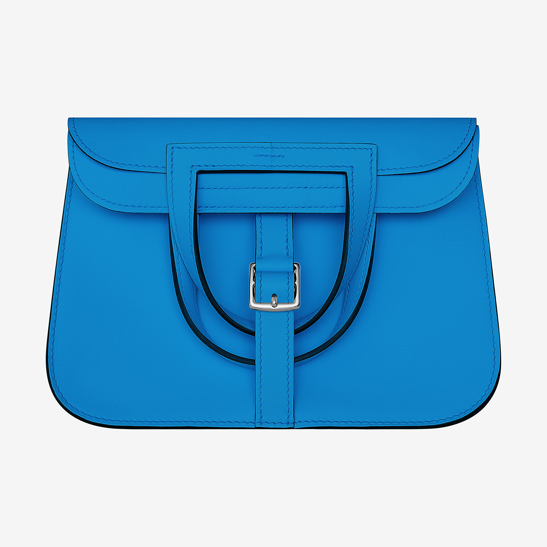 爱马仕Hermes Halzan mini bag bleu zanzibar Swift 小牛皮手提包