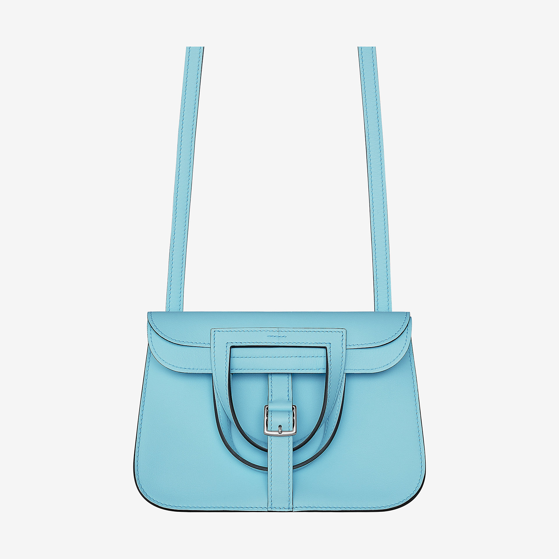Hermes Halzan mini bag迷你手提袋bleu zéphyr Swift calfskin 小牛皮手提包