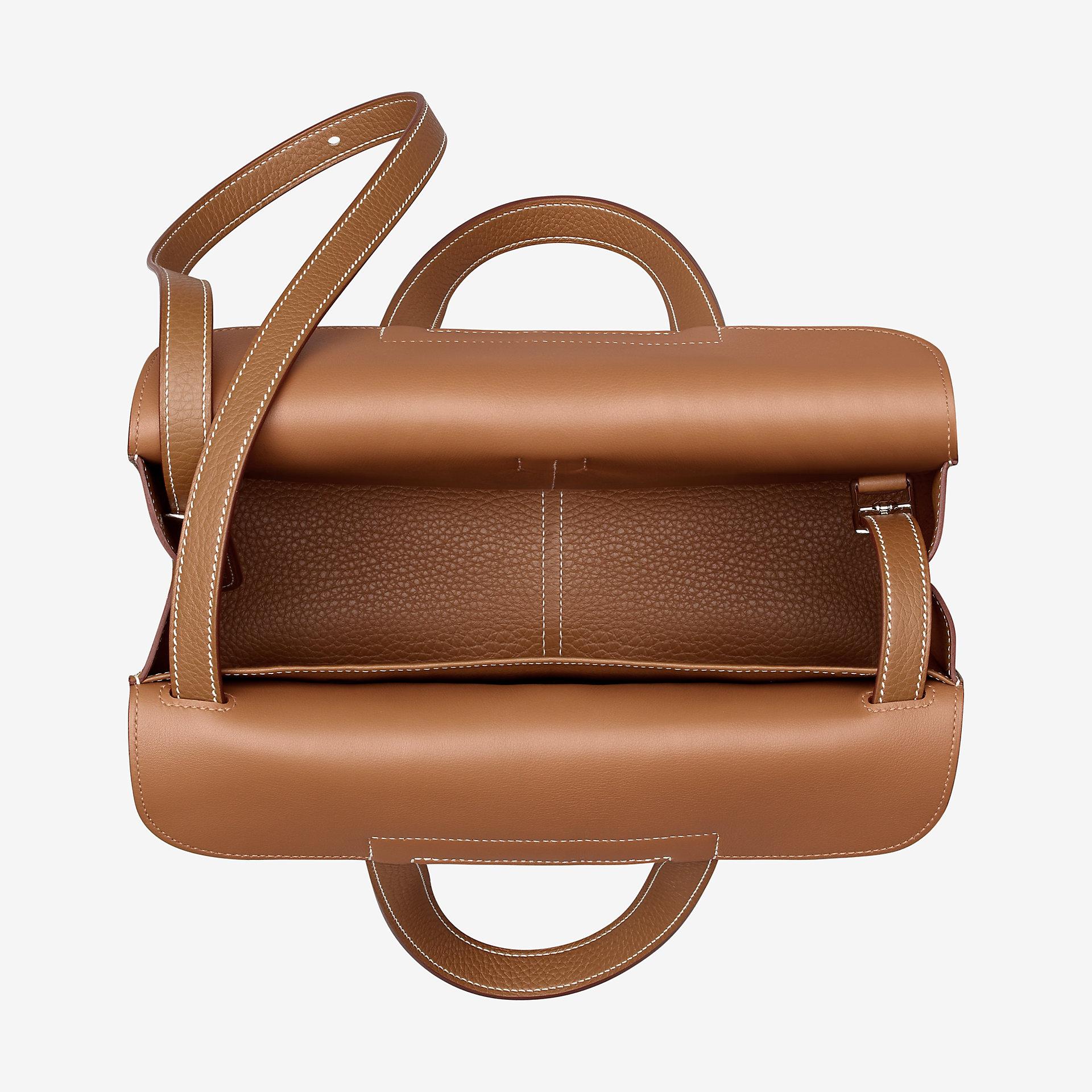爱马仕Hermes Halzan 31cm bag gold Clemence小公牛皮手提包