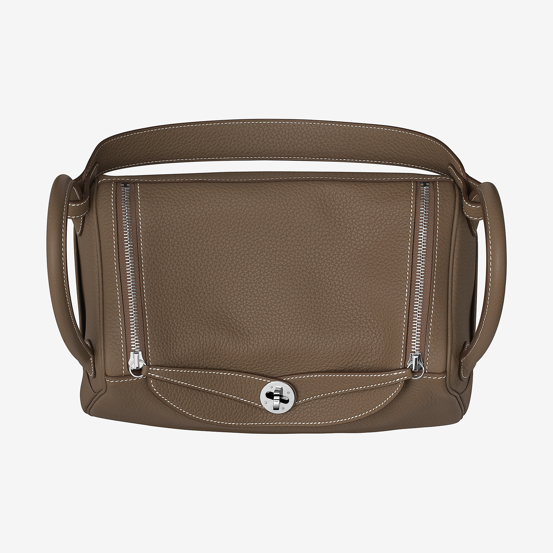 Hermes Lindy琳迪包 30 bag CK18 大象灰 taurillon Clemence leather