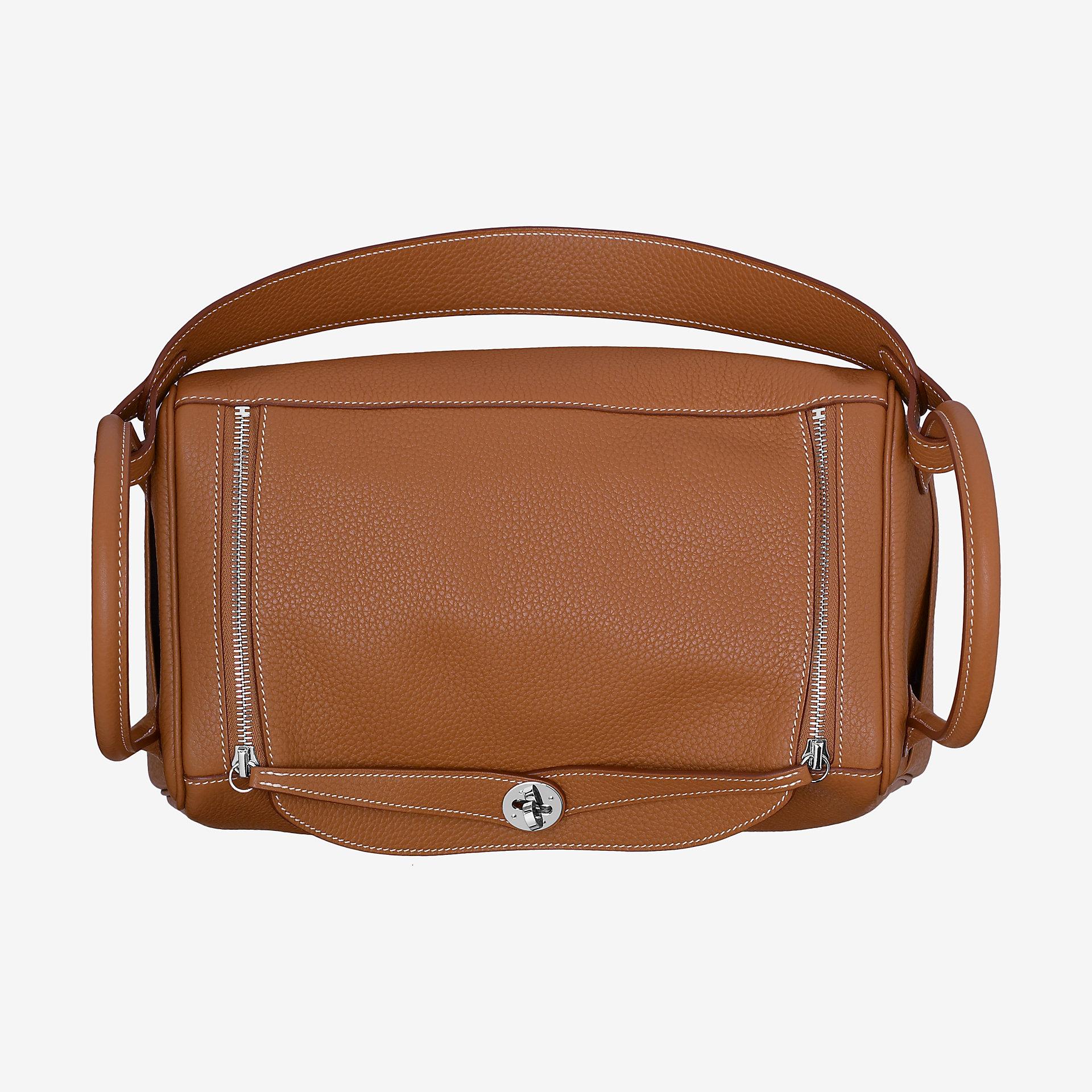 爱马仕琳迪包 Hermes Lindy 30cm bag CK37金棕色 taurillon Clemence