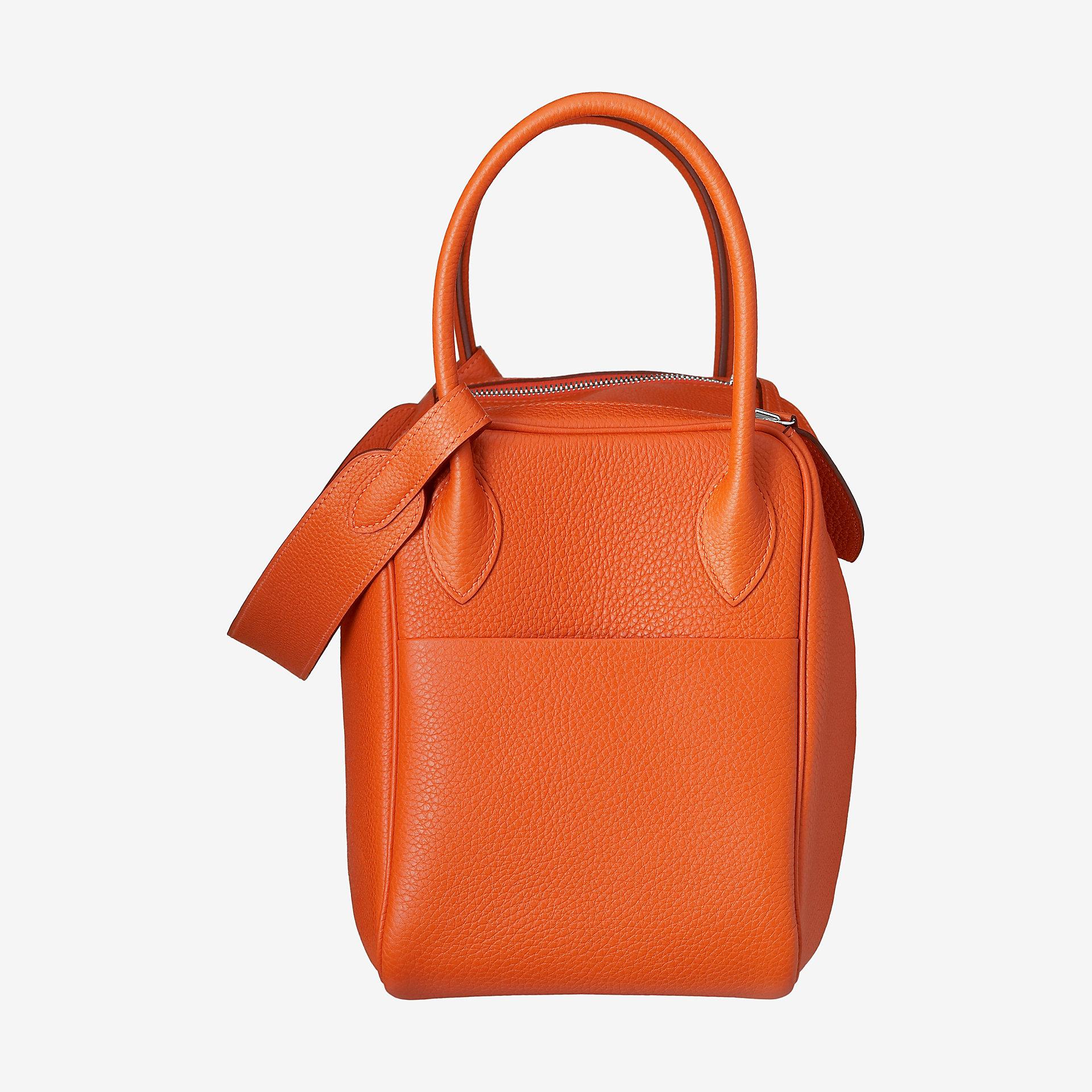 爱马仕琳迪包价格Hermes Lindy 30 bag  taurillon Clemence 9J橙色