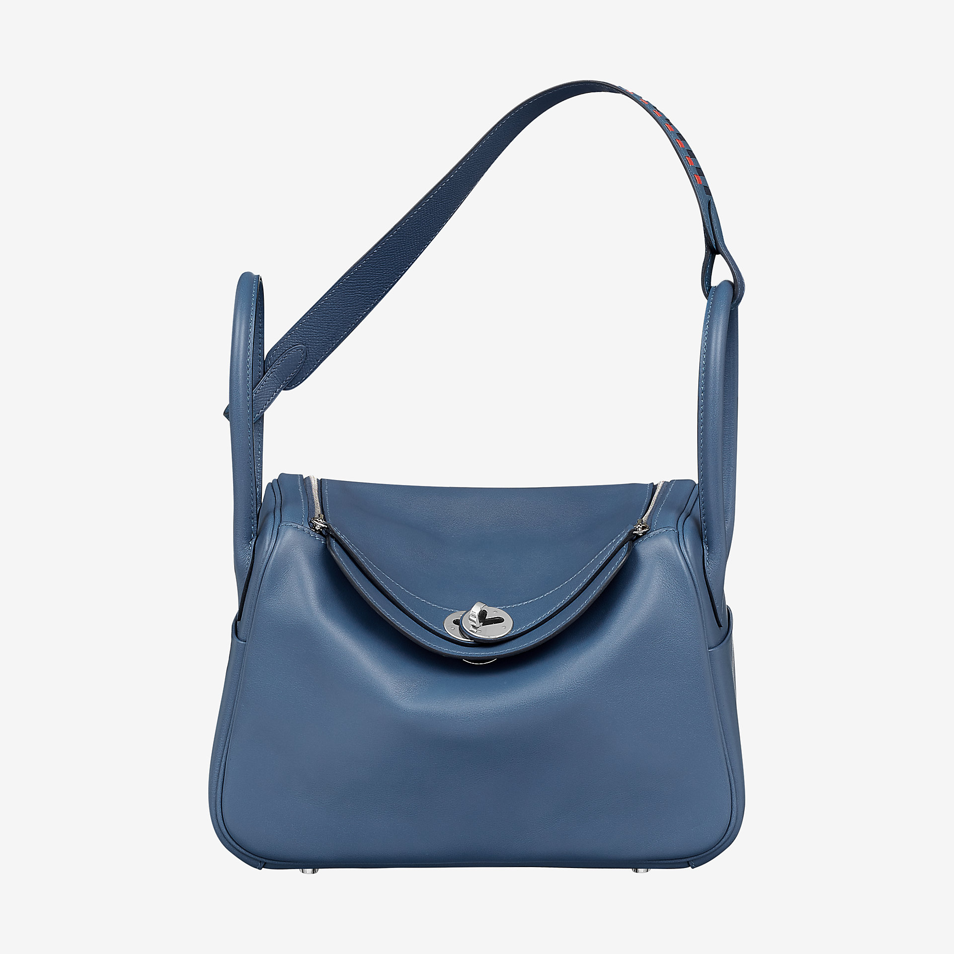 Hermes Lindy 26 bag bleu Brighton Swift and Epsom calfskin