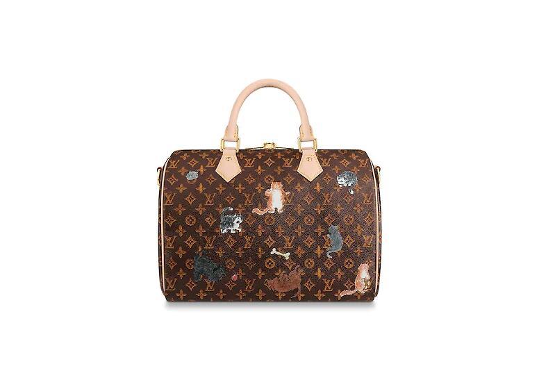 路易威登 LV 棕色与橘色SPEEDY 30 手袋(配肩带)M44401