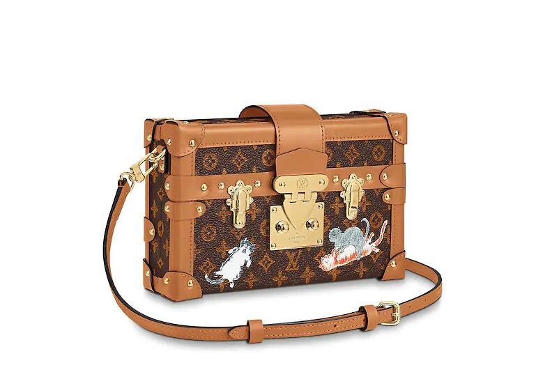 路易威登 LV PETITE MALLE 手袋 M44407 棕色与橘色