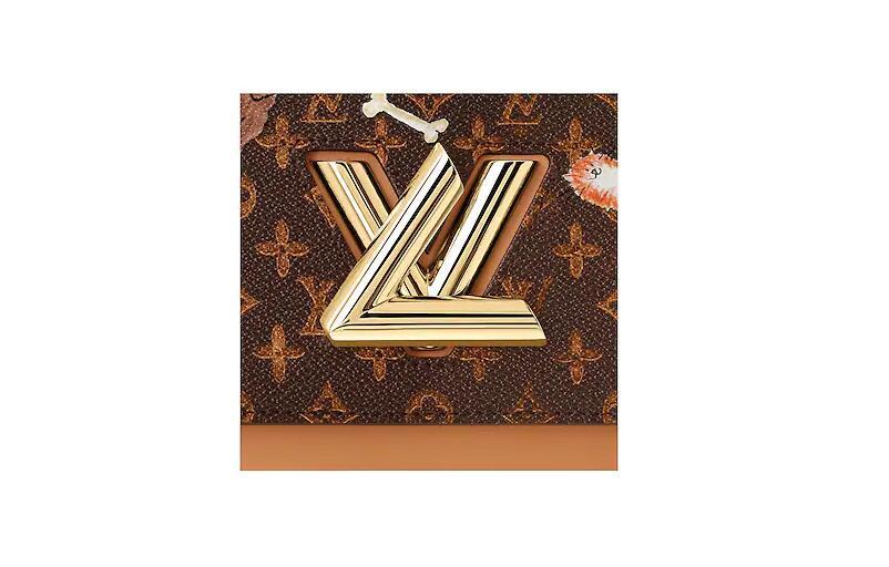 路易威登 LV 棕色与橘色 TWIST 中号手袋 M44408