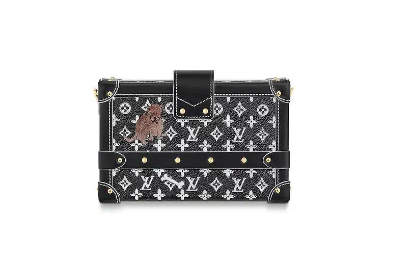 路易威登 LV 黑色和白色 PETITE MALLE 手袋 M44437