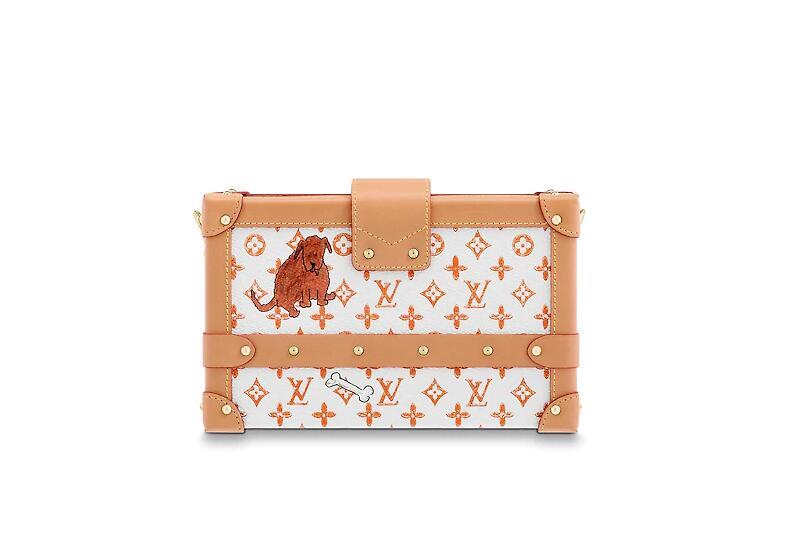 路易威登 LV 白色和橙色PETITE MALLE 手袋 (北京SKP限定款)M44461