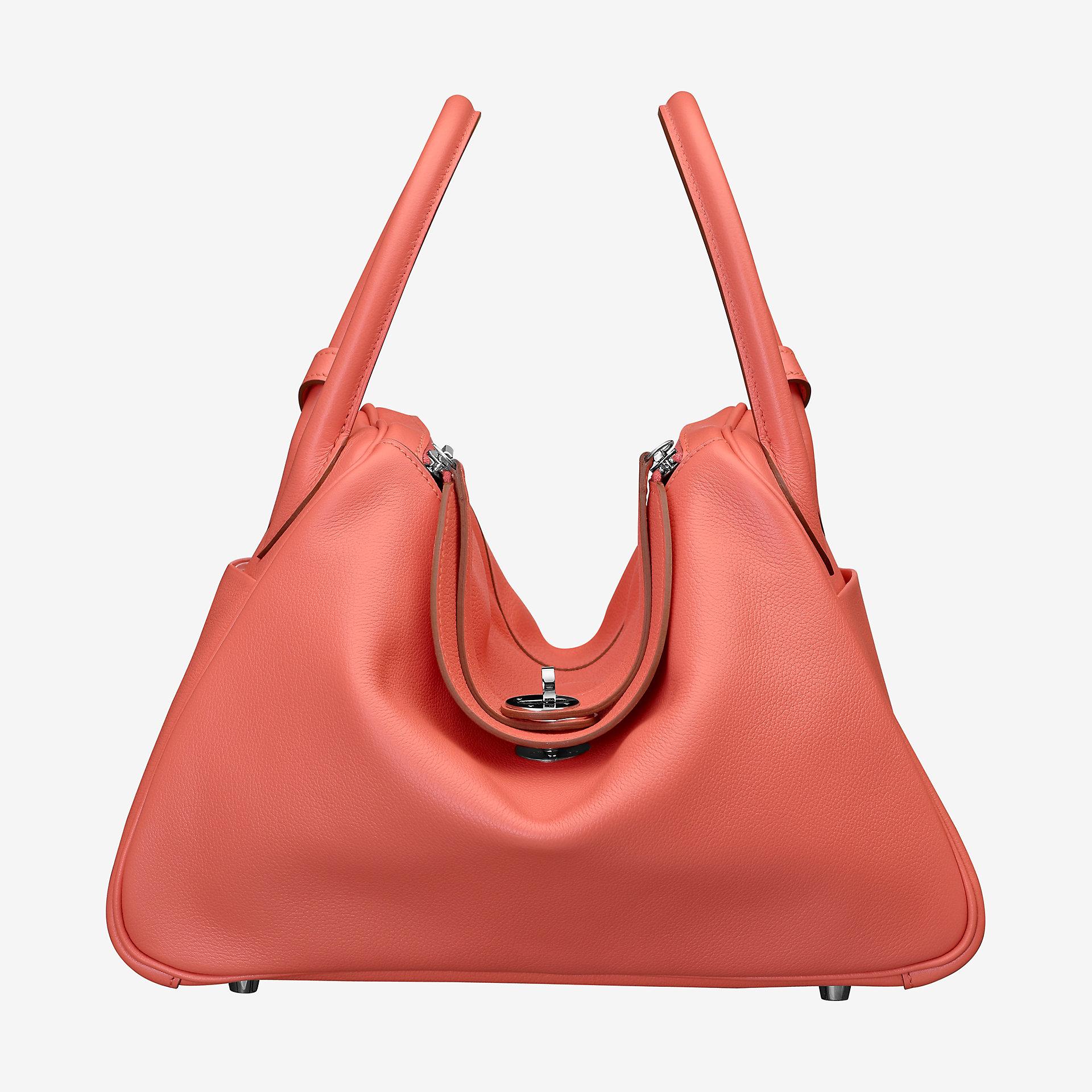 爱马仕琳迪包定制 Hermes Lindy 30 bag flamingo CKI5