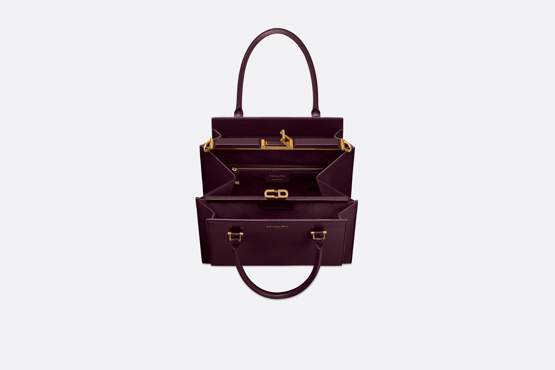 迪奥包包官网价格 Dior21st苋红色亮面小羊皮手提包。