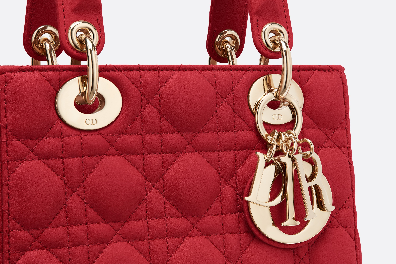 迪奥包包价格和图片 MY ABCDIOR 红色藤格纹小羊皮手提包