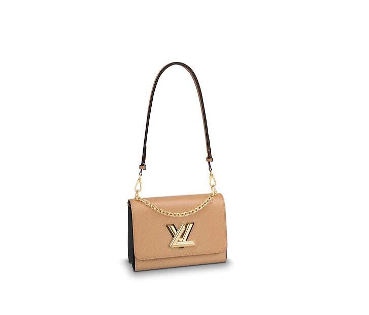 LV女包新款 M51884 TWIST 中号手袋 Camel