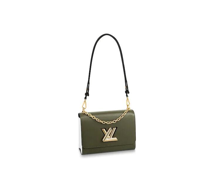 LV女包新款 M53597 TWIST 中号手袋 卡其色
